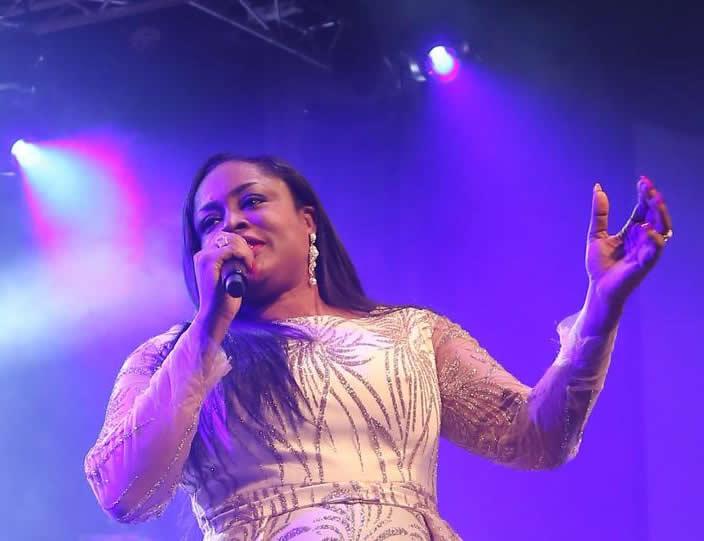 Nigerian Award Winning Gospel Singer Sinach, Gives Birth to First Child at 46